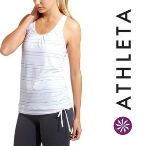 ATHLETA Bra Top Multi Stripe Tinker Tank 215041 XS